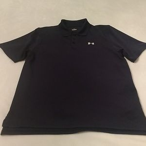 Men's Under Armour navy blue golf shirt